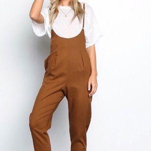 Pants - Linen Blend Jumpsuit